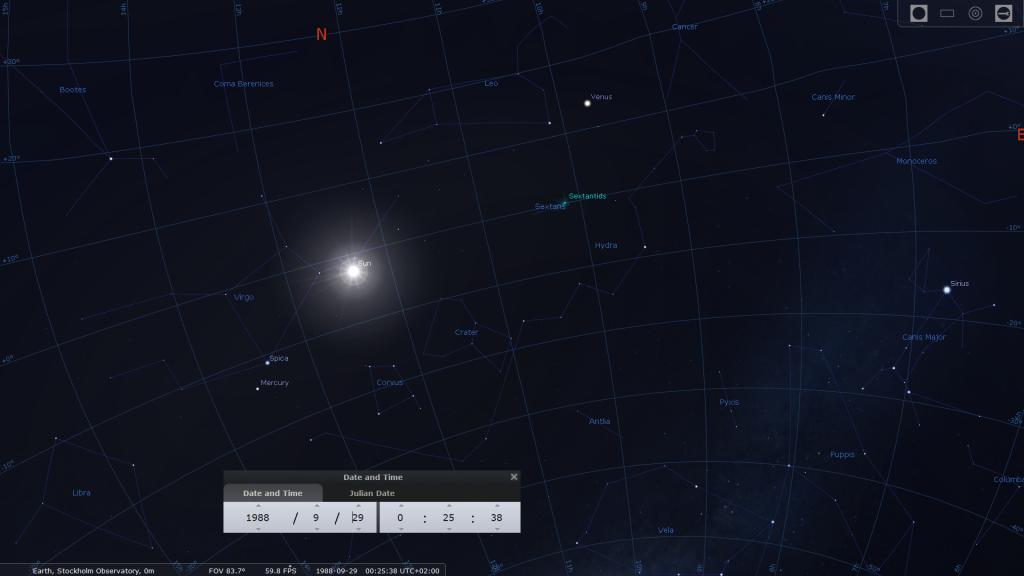 stellarium zodiac